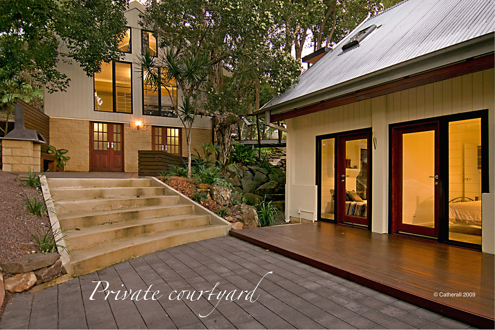 Decks and Patios Sunshine Coast - private courtyard