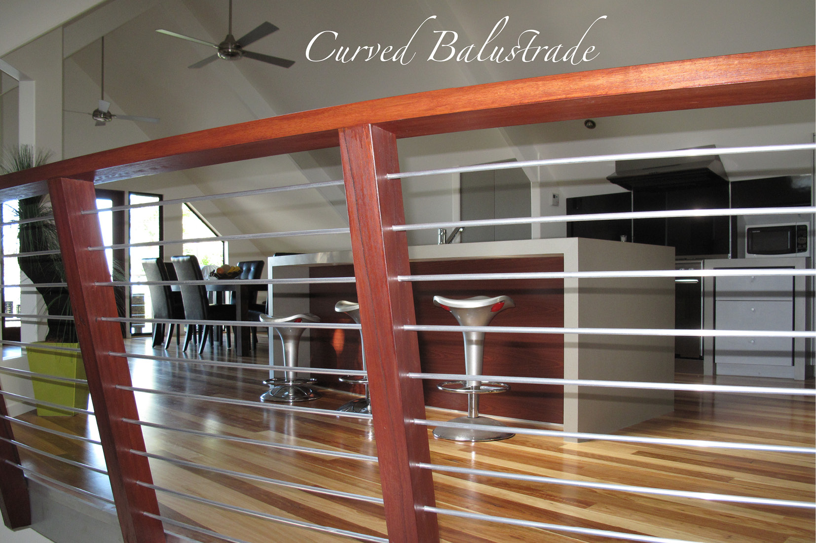 Sunshine Coast Home Builder - curved Balustrade