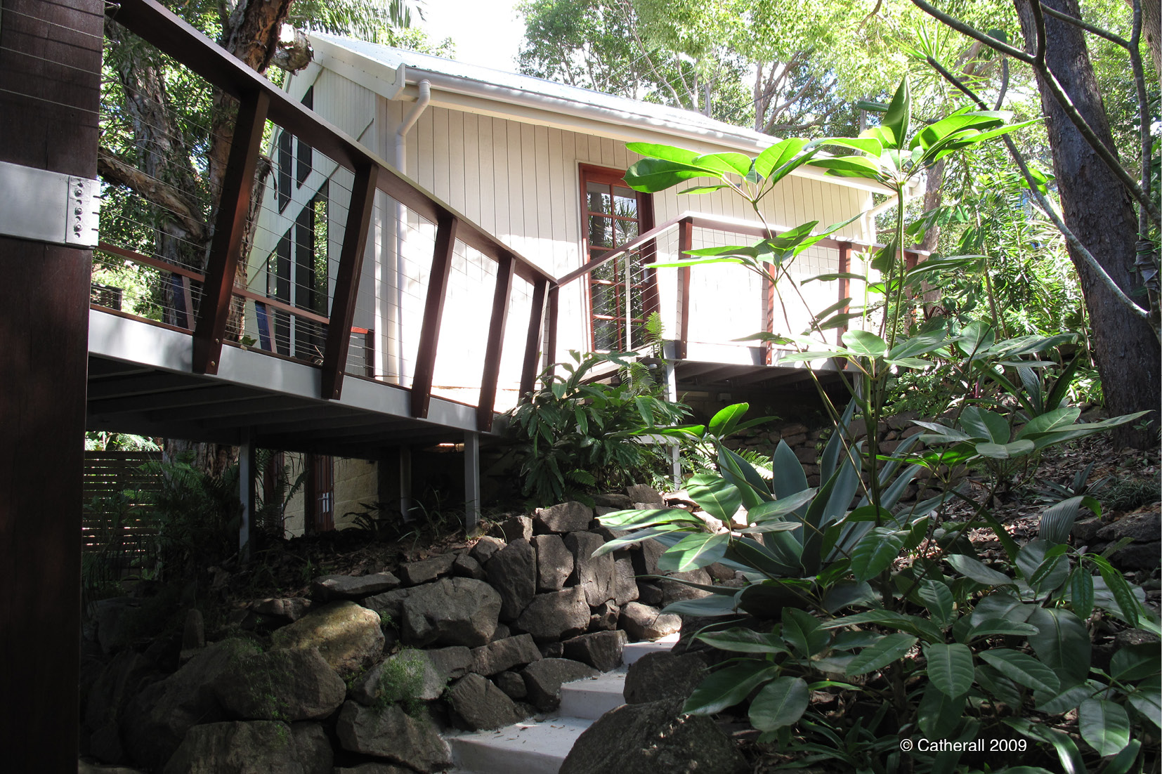 Structural landscaping on this Sunshine Coast home so you can thoroughly enjoy the outdoors